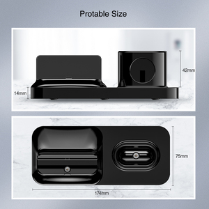 Image 5 - Raxfly 3で1磁気電話充電器iphoneドック3 1ワイヤレス充電器でairpods充電スタンドホルダーappleの腕時計