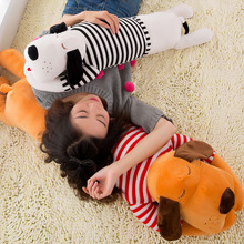 Купить с кэшбэком Cushion Dog Plush 70 90 120cm Toy Big Giant Stuffed Soft Chair Seat Cushion Stitch Stuff Animal Pillow Home Sofa Puppy Pillow