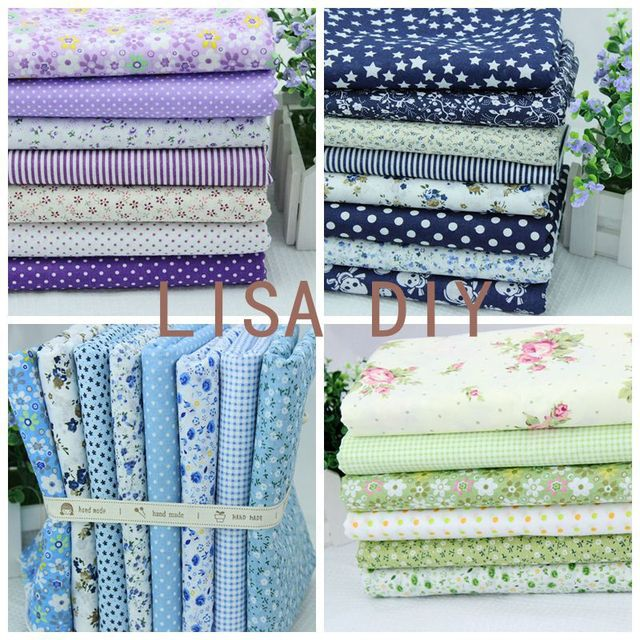 FREE SHIPPING 4 Sets/lot 50cmx50cm Cotton Fabric Fat Quarters Bundle Quilting Patchwork sewing fabric for Tilda WL125