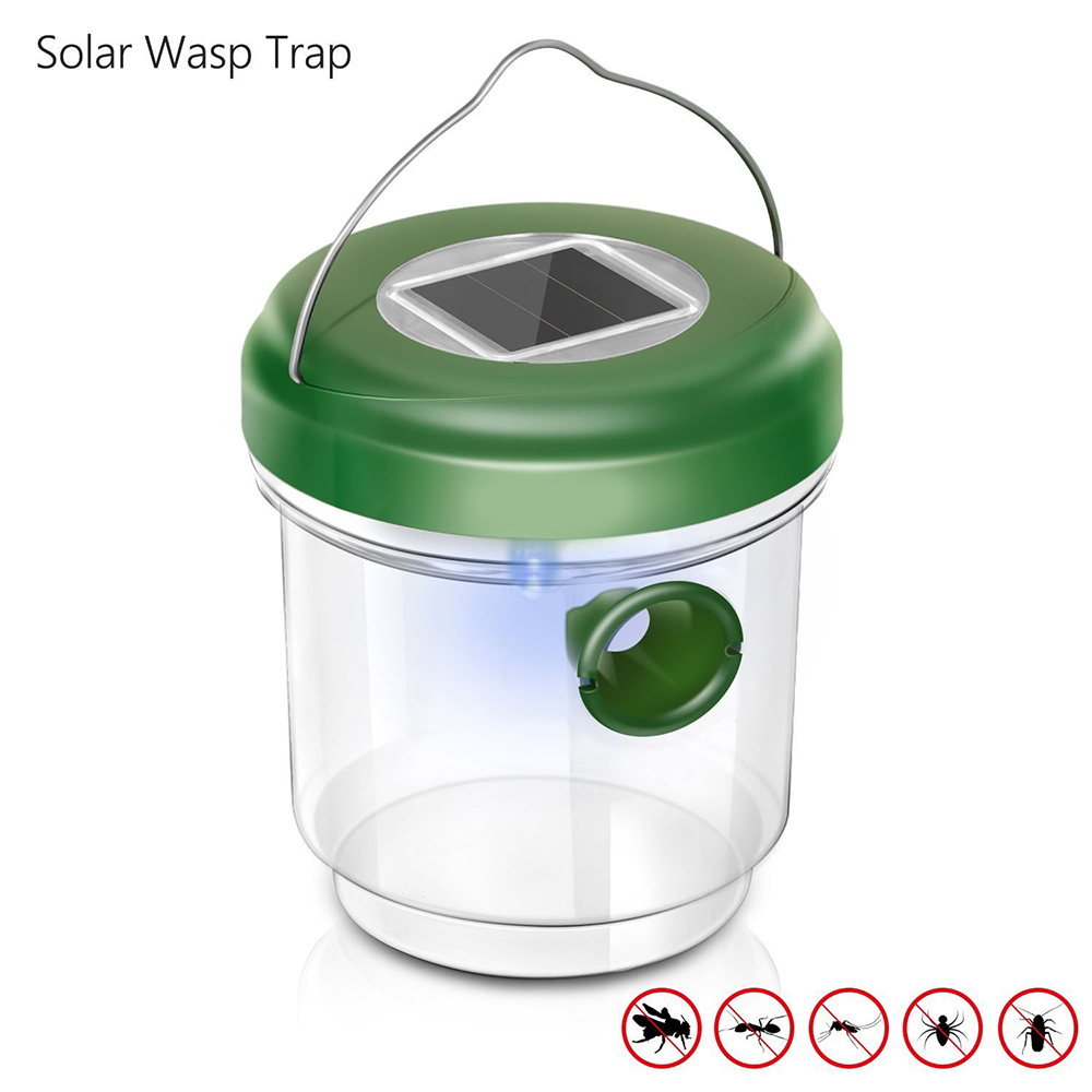 1PC or 2PCS Solar Powered Wasp Trap Insect Catcher for Bees Yellow Jackets Hornets Flying Suspension Bee Hornet Trap Catcher Гриль