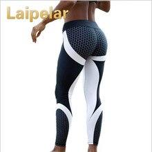 Laipelar Mesh Pattern Print Leggings Fitness Leggings For Women Sporting Workout Legging Elastic Slim Black White Sweatpants active heart pattern mesh sports leggings in black