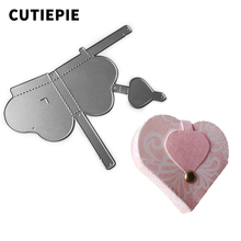 Lovely Heart Box Metal Cutting Dies for Scrapbooking DIY Photo Album Embossing Folder Paper Card Making Decorative Supplies