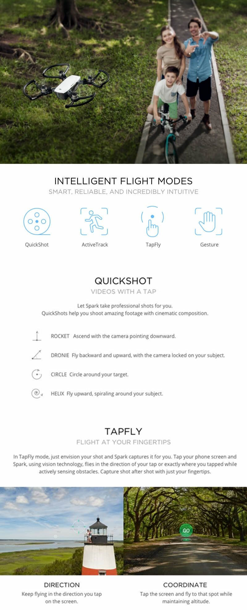 2017 New DJI Spark Drone 2KM FPV RC Drone with 12MP 2-Axis Mechanical Gimbal Camera QuickShot Gesture Mode Quadcopter