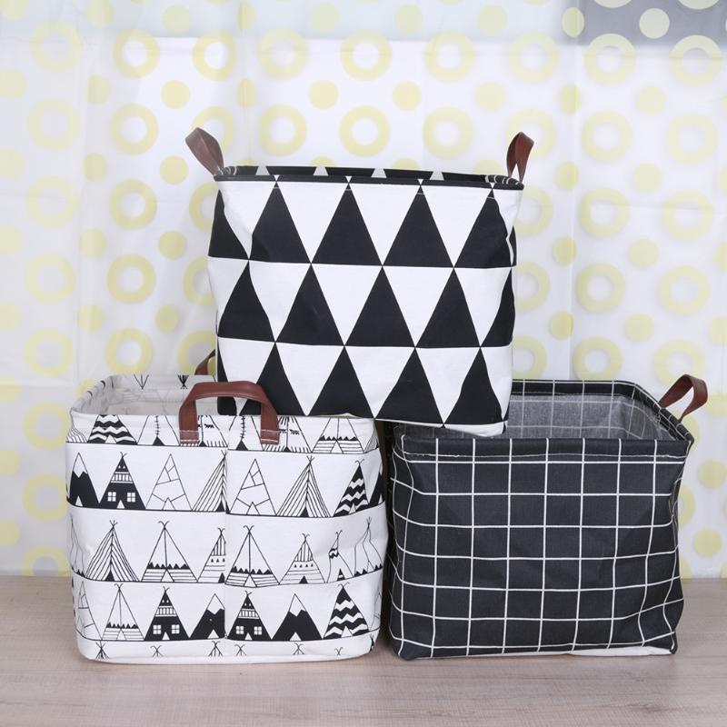 33*33 cm Folding Wäsche Korb Cartoon Lagerung Barrel Stehend Kleidung Spielzeug Lagerung Korb Organizer Spielzeug Halter Beutel