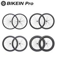 BIKEIN 38 50 60 88mm Clincher Tubular 3k Carbon Road Bike 700C Wheels Wheelset 23mm Depth