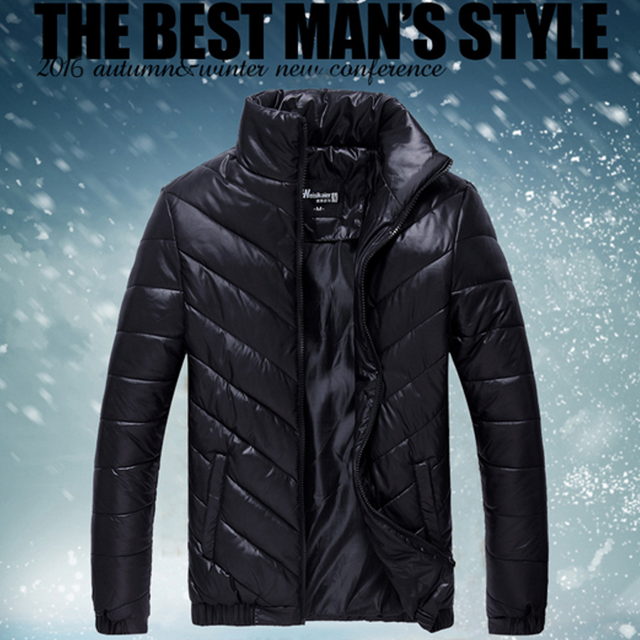 Men Casual Warm Jackets Solid Thin Breathable Winter Jacket Mens Outwear Coat Lightweight Plus Size XXXL hombre jaqueta For Male
