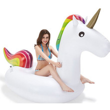 Giant 200CM Inflatable Unicorn Pool Float Swim Ring Pegasus Floating Swim Float Gonflable Piscina Boias Child&Adult Water Toys 70 inch 1 9m giant swan pvc inflatable pink flamingo ride on pool floating toy swim mat for adult child float chair pf025