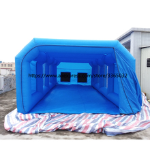 Professional supplier high quality 7*4*3m inflatable spray booth, portable paint booth for car