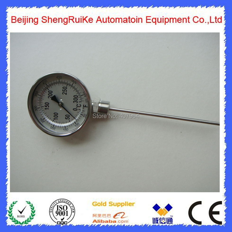 Stainless Steel 3 inch Bottom  bimetal thermometer 90mm 3 543in m43 grinding cobalt steel bimetal mechanical three way fire line openings buy 3 more favorable