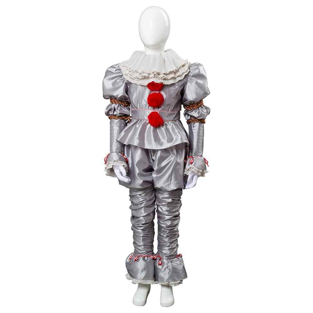 Stephen King's It IT: capitolo 2 Pennywise The Clown Cosplay Costume bambini Unisex Outfit set completi per carnevale di Halloween