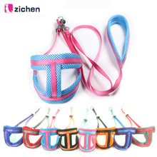 Zichen Dog Harness Leash Set Breathable Mesh Nylon Plus Soft Material For Chain Daily Walking S-M