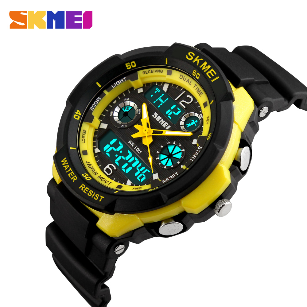 SKMEI Children Sports Watches Fashion LED Quartz Digital Watch Boys Girls Kids 50M Waterproof Wristwatches 1060
