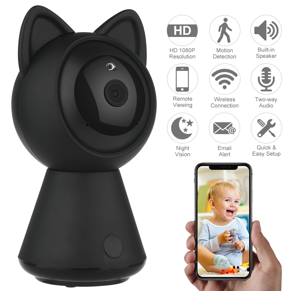 Defeway 2MP IP Camera 1080P Wireless Wifi HD Home Security Surveillance Video System For Baby  Pet Two Way Audio & Night Vision