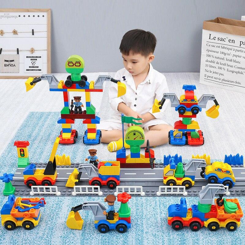 Blocs de construction briques à monter soi-même blocs de voiture de la Police de la ville avec soin briques de jouet jouets éducatifs de construction pour les enfants