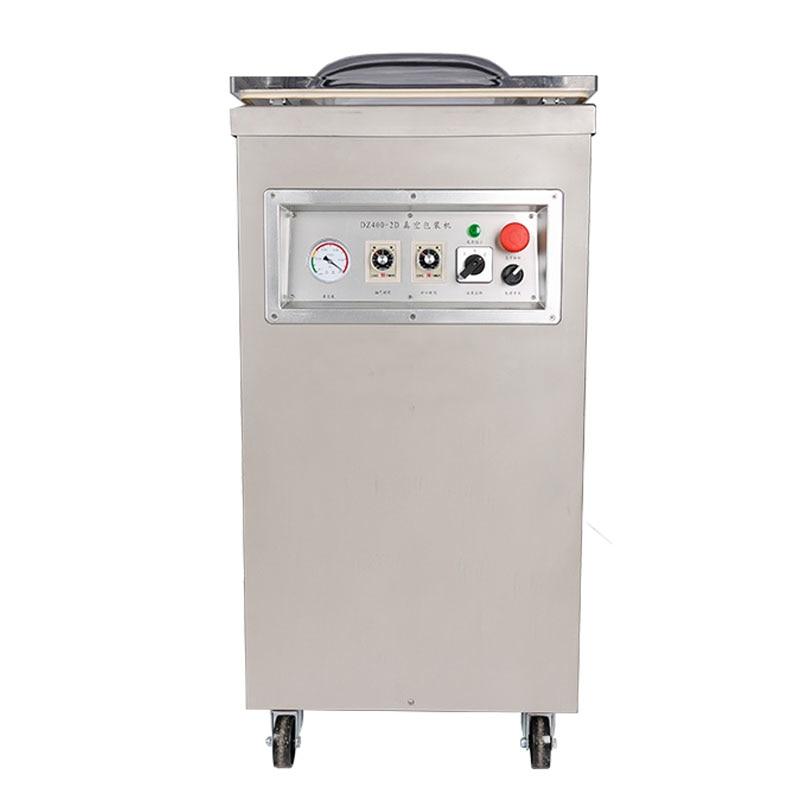 Vakuuminės pakuotės sandariklis iš aliuminio plastikinių maisto taupymo maišelių sandarinimo mašina DZ-400 siurbimo įranga šviežumas žuvis vištiena pakuotojas