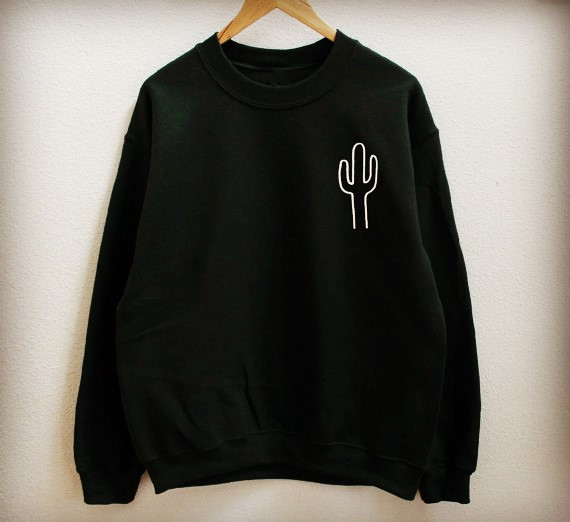 Cactus sweatshirt Unisex fashion tumblr sweatshirt moletom do tumblr pullovers high qual ...