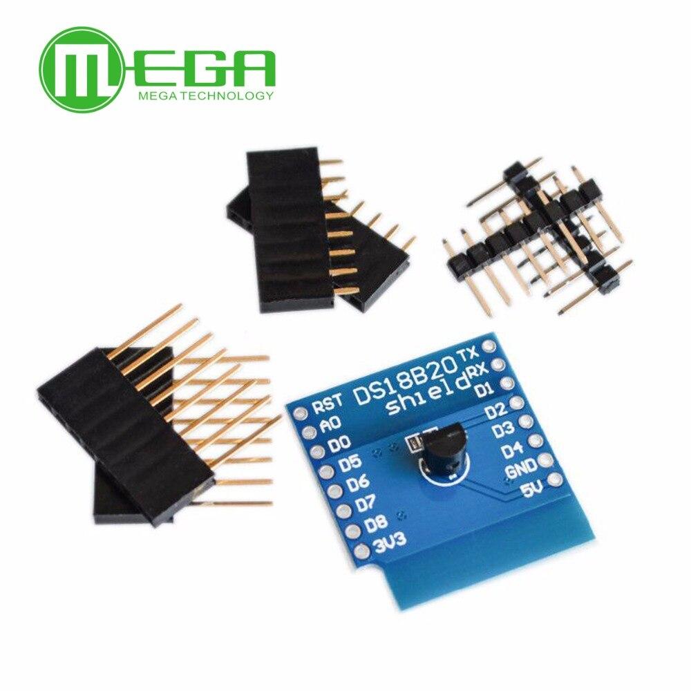 DS18B20 For WeMos D1 Mini Temperature Sensor Module Wifi Module Measurement Module WIFI Extension Board Learning Board