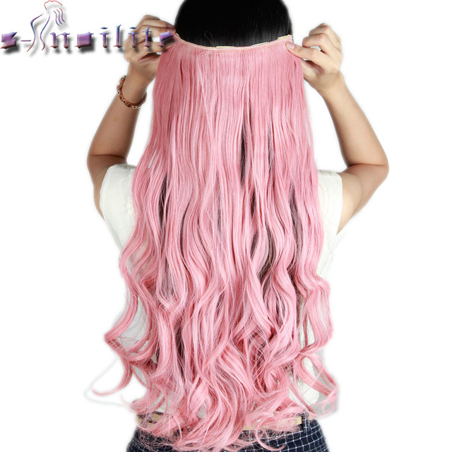 S noilite 61cm 24 light pink curly long one piece clip in full s noilite 61cm 24 light pink curly long one piece clip in full head pmusecretfo Images