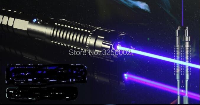 Plus Puissant 1000000 m 450nm Haute Puissance Bleu Pointeurs Laser lampe de Poche Brûler L'allumette Bougie Cigarette Allumée Méchants LAZER Torche