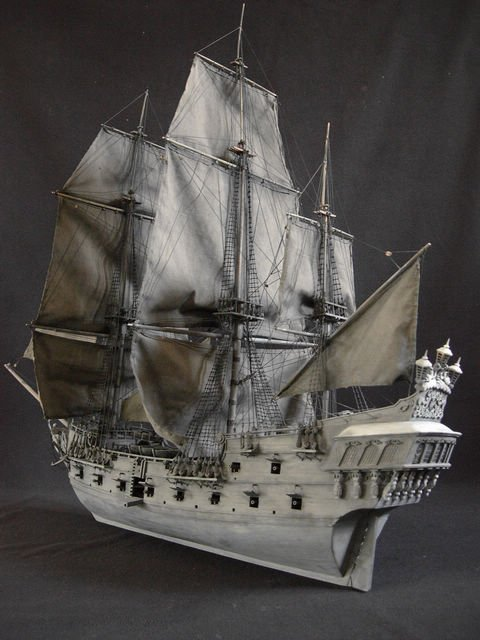 ZHL model ship kits 2010 Black Pearl model ship KM01-in