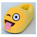 New Winter Thickened Plush Emoji Slippers Women Men Children Family Home Slippers Fashion Warm Adult Indoor Soft Stuffed Shoes