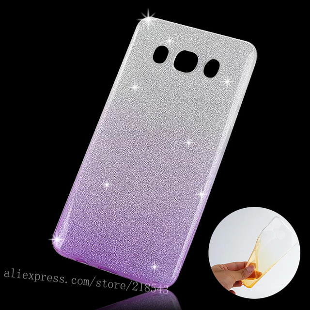 pick up d477f 1436f US $2.68 |For Samsung J7 (6) Case Soft Gradient Clear TPU Case for SAMSUNG  Galaxy J7 2016 J710 Cover Silicon Gel Glitter Powder Phone Bag-in Fitted ...