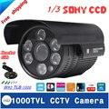 1000TVL Impermeável Ao Ar Livre Câmera de Segurança CCTV Visão Nocturna do IR 3.6-12mm Lente Opcional Com Bracket Como Presente