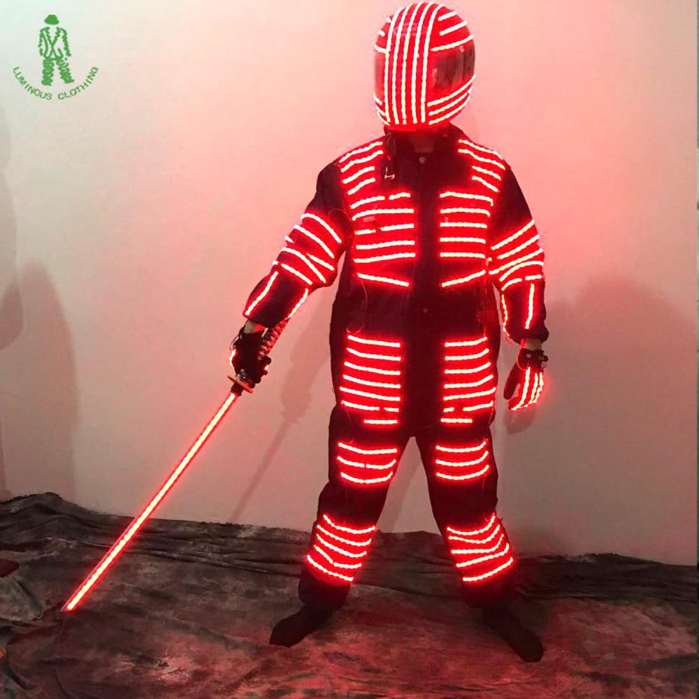 LED šviečiantis kostiumas Robotas apšviestas kostiumas naktiniams - Šventės ir vakarėliai