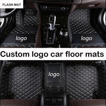 Custom LOGO car floor mats for Honda jazz Honda accord 2003-2017 honda fit civic city crv auto accessories car mats