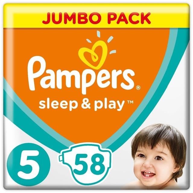 Подгузники Pampers Sleep & Play 11-16 кг, 5 размер, 58 шт.