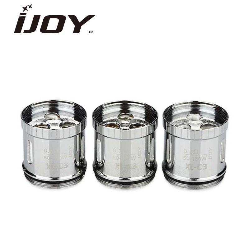 Original 3pcs IJOY Limitless XL Light-up Coil XL-C3 Light-up Chip Coil 0.2ohm & XL-C4 Chip Coil 0.15ohm for Limitless XL Tank 3pcs 3 175x15mm up