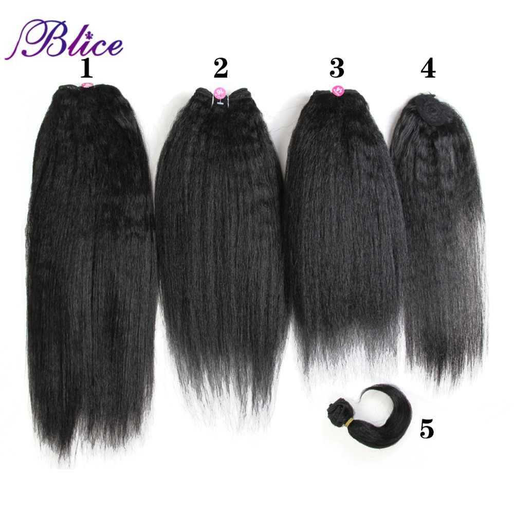 """Blice syntetyczne przedłużanie włosów 14 """"16"""" 18 """"włosy tkania Kanekalon czysty kolor wiązki włosów dla kobiet Yaki prosto 5 sztuk/paczka"""