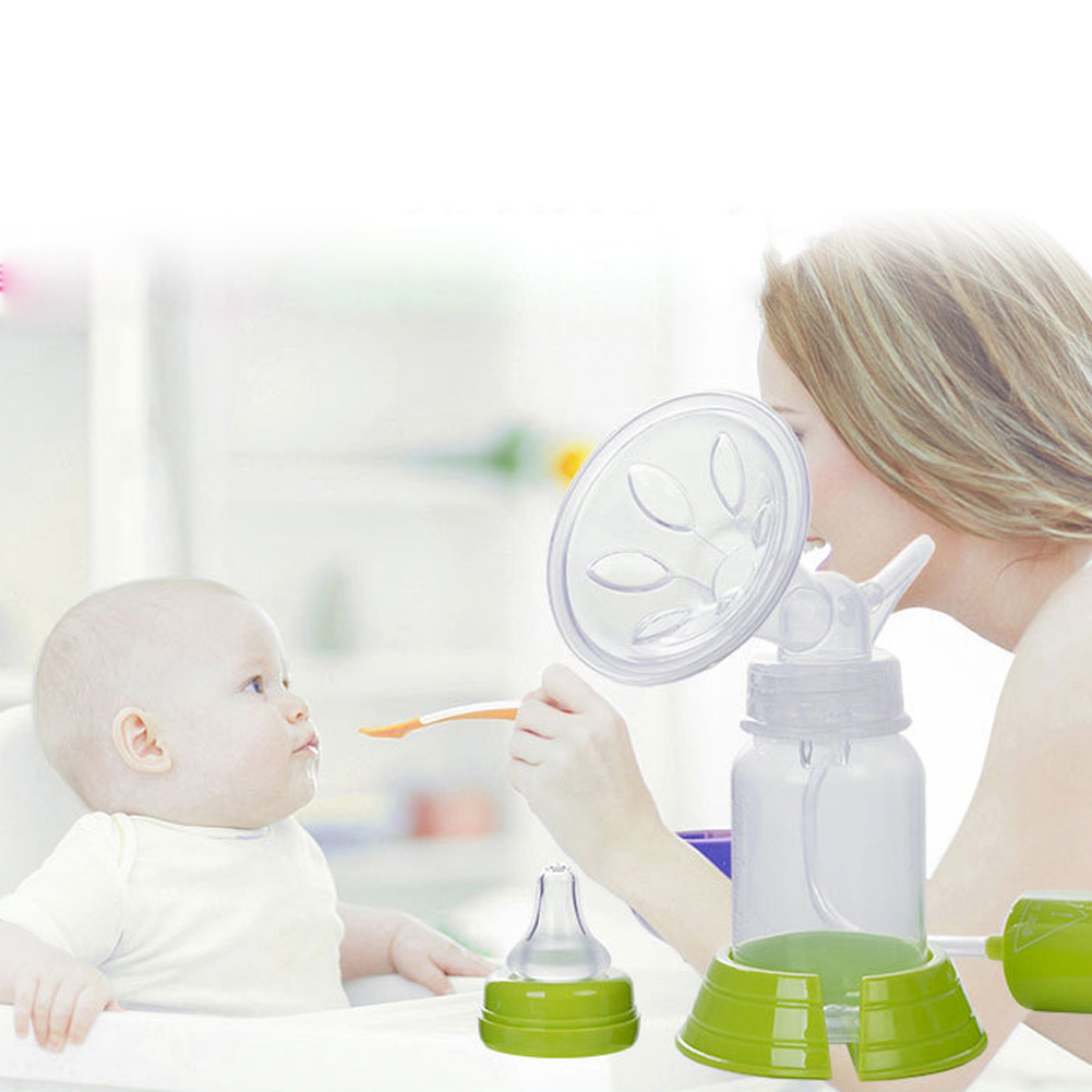 Manual Breast Feeding Pump Manual Breast Milk Silicon PP BPA Free with Milk Bottle Nipple Function BM88