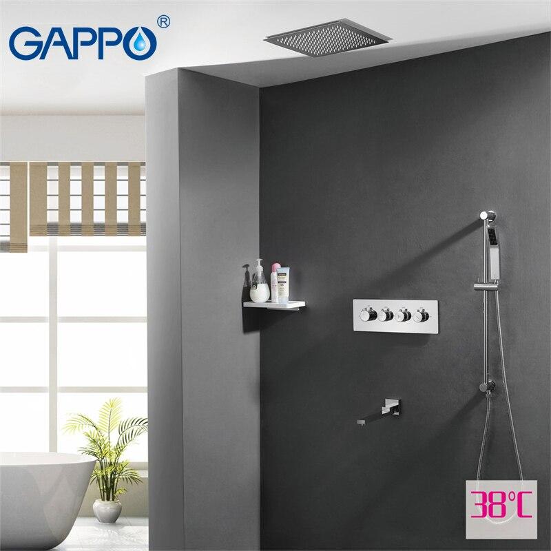 GAPPO chuveiro torneira da pia bacia torneiras cachoeira shower tap mixer bath torneira Sensor de torneiras de banho termostático Chuvas mixer Fauce