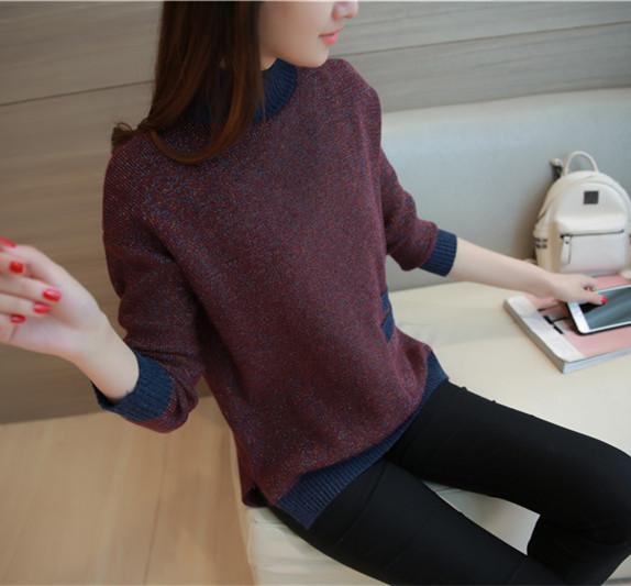 6660 señoras de la flor real hilo clip de color de punto suéter de 58