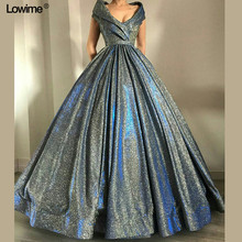 Lowime Arabic Dubai Ball Gown Evening Dress 2018 Sequined