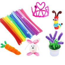 100pcs Colorful Chenille DIY Twisted Stick Creative Handmade Crafts Plush Bar Interactive Braiding Toys Christmas legoeings