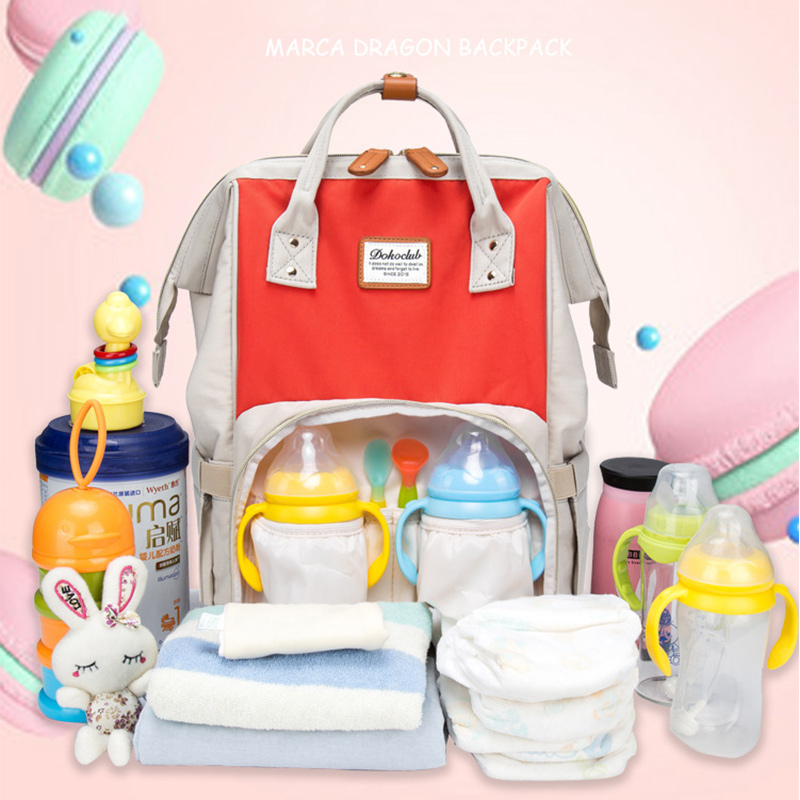 2019 New Baby Care Diaper Bag Travel Mummy Maternity Backpack For Baby Stroller Organizer Nappy Changing Bags Mother Bag  (15)