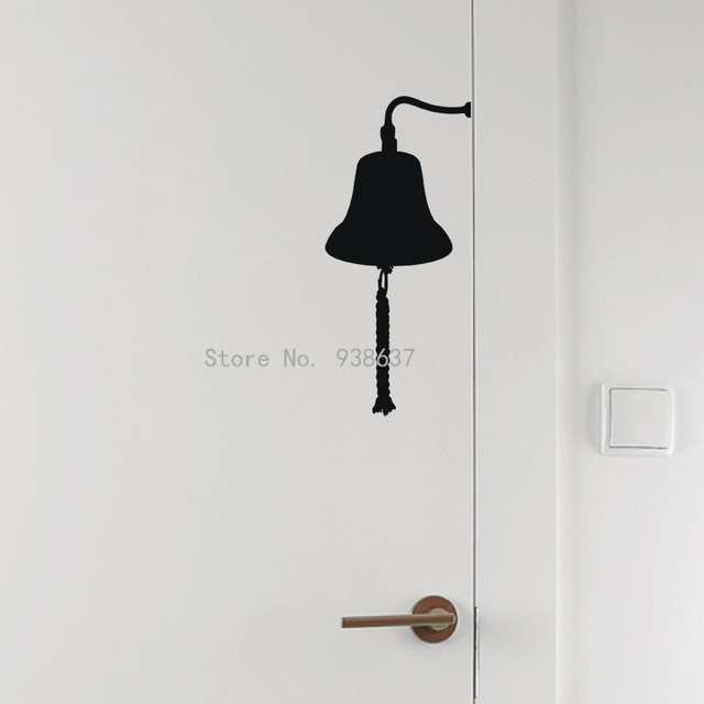 Creative Door Wall Decor Door Bell Wall Decal Home Decoration Removable  Vinyl Wall Stickers Living Room
