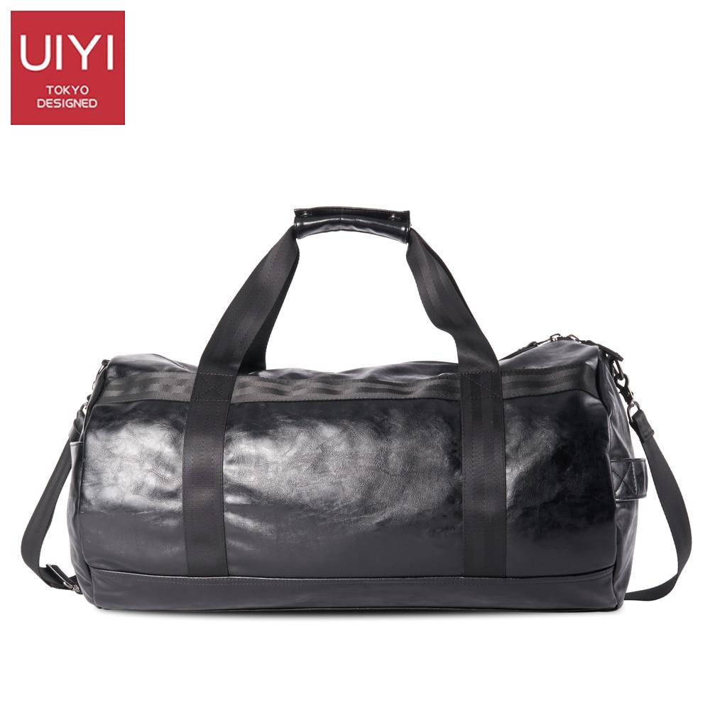 UIYI Men Soft PVC Travel Bag Classic High-Capacity handbag For Men Waterproof Shoulder Bags Luggage Travel Duffle # UYS7032 5