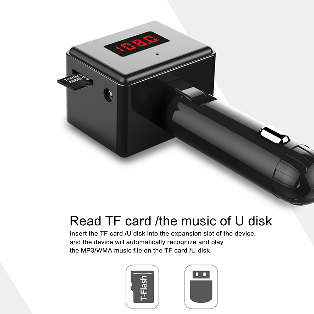 Image 4 - B36 Wireless Car Kit Bluetooth Aux interface MP3 Player Rotatable Bluetooth ual USB Ports Car Charger Intelligent Current Output-in FM Transmitters from Automobiles & Motorcycles
