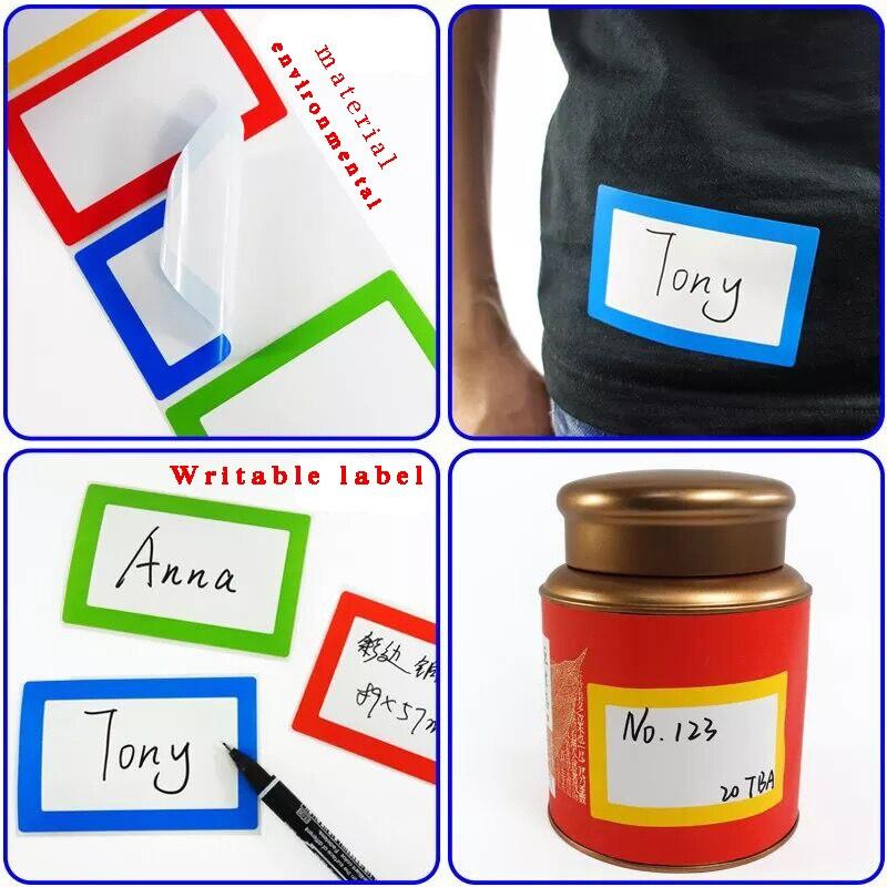 Nome colorido Etiquetas do Tag-200 Adesivos-Cores Sortidas-2 4 1 4X3 1 2-2 Rolo por Lote