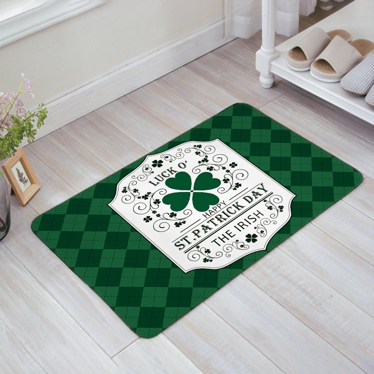 Non Slip Soft Absorbent Kitchen Floor Bath Mat Welcome