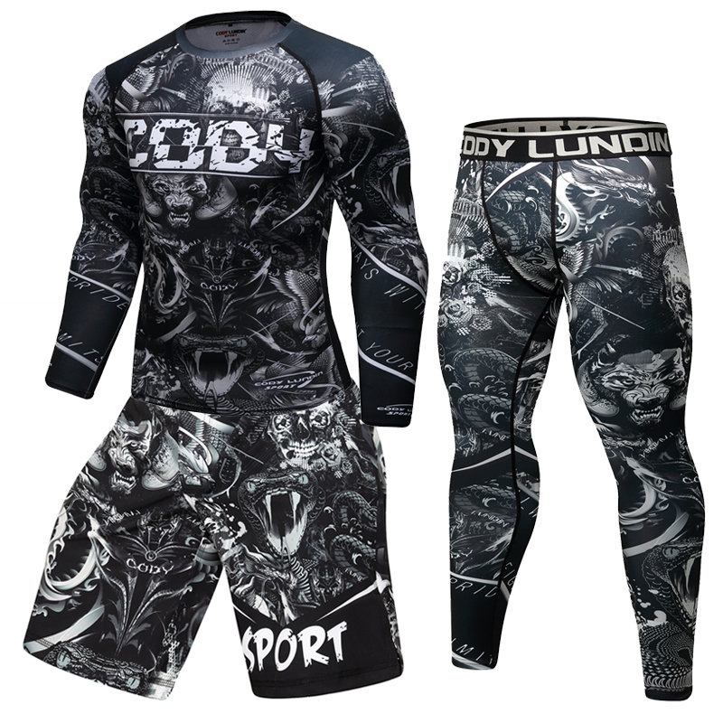 Men's Sportswear Suit Brand Gym Tights Football Training Clothes Workout Jogging Sports Set Running Tracksuit BJJ MMA Rash Guard