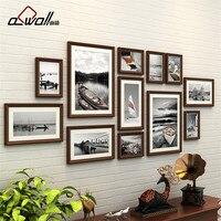 Luxurious Colored Frames Wood Photo Frame Vintage Photo Frames for Wall European Photo Sets Porta Retrato Moldura12 Pieces/set
