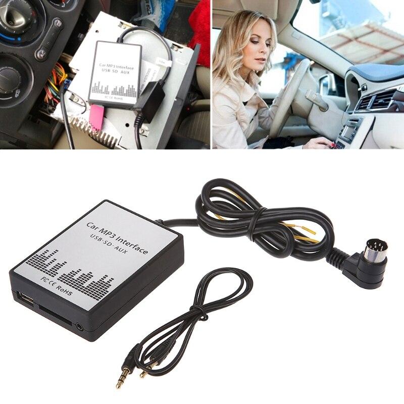 高品質 USB の SD の AUX カー MP3 音楽プレーヤー Volvo HU シリーズ C70 S40/60/ 80 V70 XC70 インタフェース簡単なインストール  グループ上の 自動車 &バイク からの ケーブル、アダプタ & ソケット の中 1