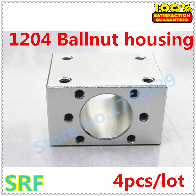 Free shipping 4pcs/lot Aluminium Alloy 1204 Ball nut housing bracket holder for SFU1204 Ball screw free shipping 1piece lot top quality 100% aluminium material waterproof ip67 standard aluminium box case 64 58 35mm