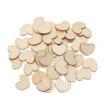 100Pcs 15x12mm Woody Heart Wooden Crafts Embellishments MDF Unfinished Wood Scrapbooking For Craft Decoration Diy
