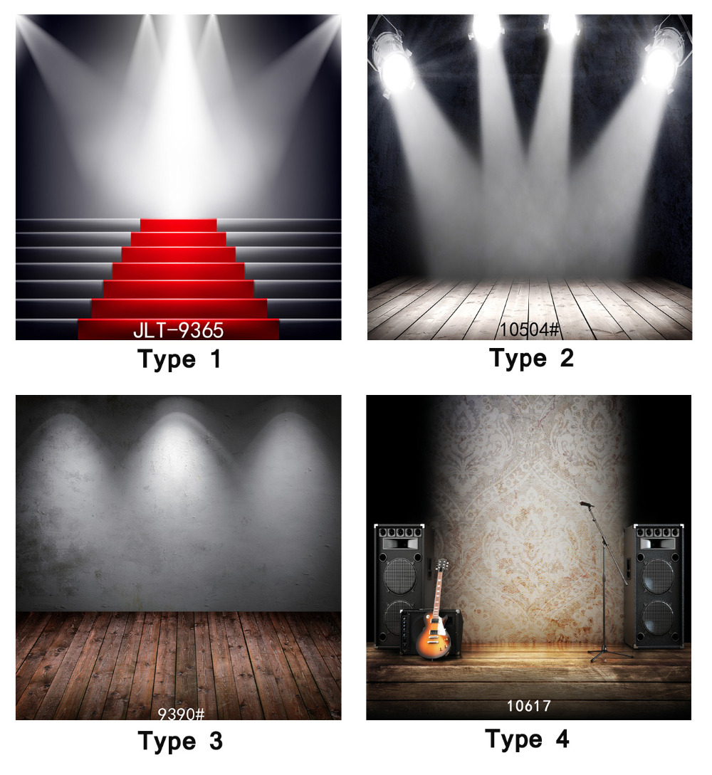Stage Lighting Party Red Carpet Musical 8X8ft Photography Background Camera Fotografica Printd Cloth Backdrops for Photo Studio ashanks 3 x 2000w fresnel tungsten spotlight camara fotografica video lighting for photography studio lighting bulb barndoor