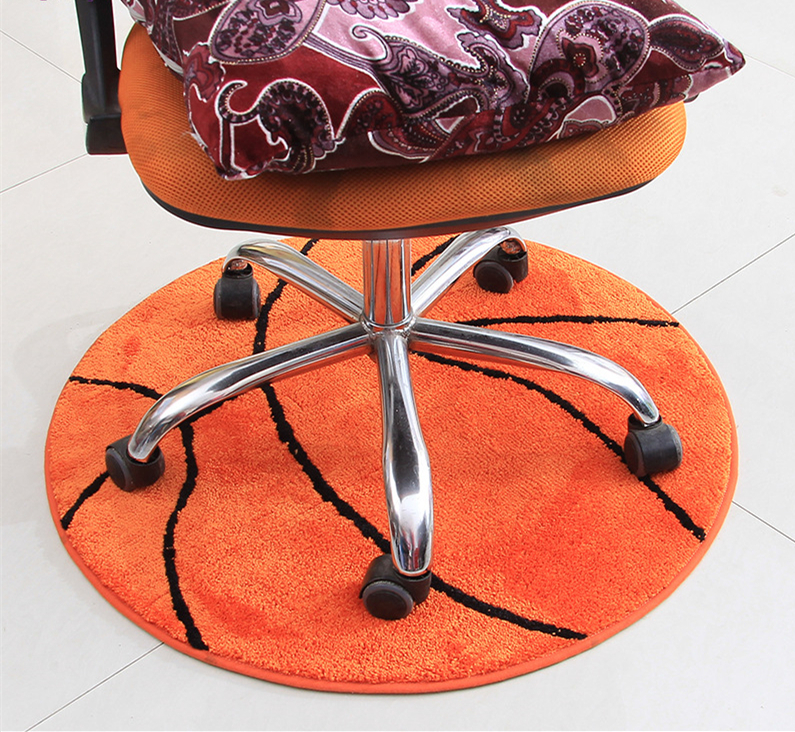 2017 Hot Sale Basketball Round Carpet Diameter 80/90/110/140cm Large Living  Room Carpet Boys Bedroom Chair Rug Bathroom Mats